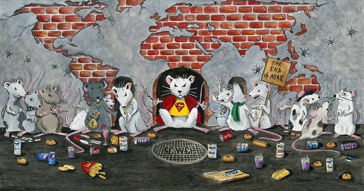 The Last Supper with Rats