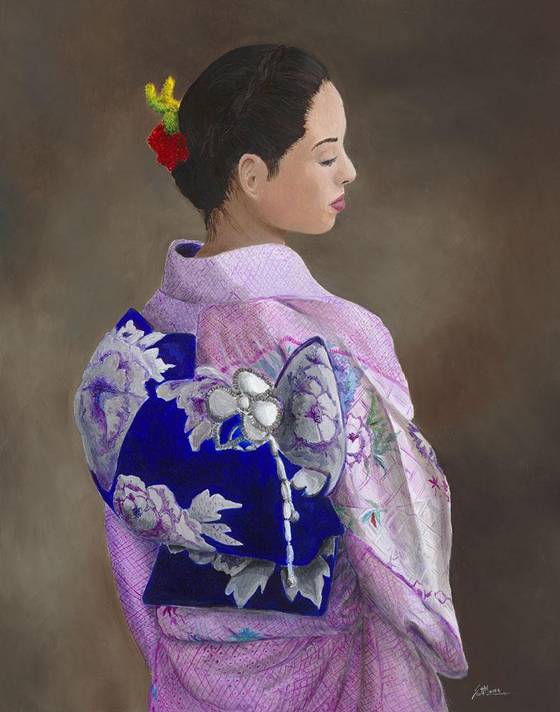 Portrait of Karen in a Kimono