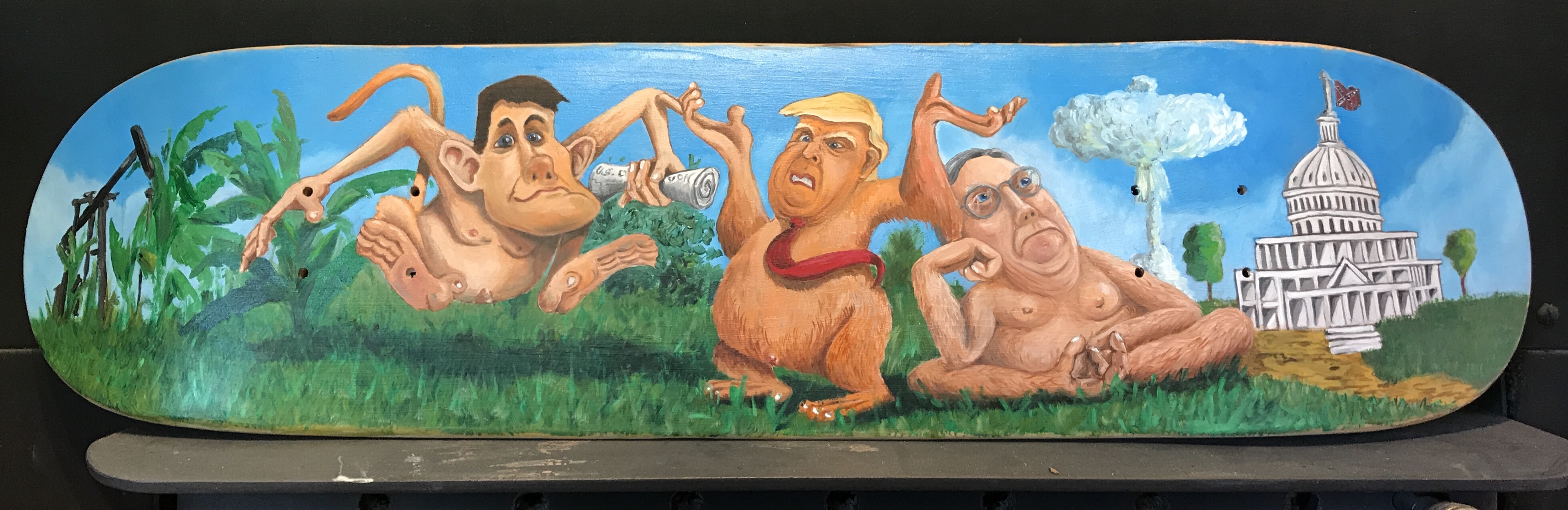 Naked Trump Skate Deck