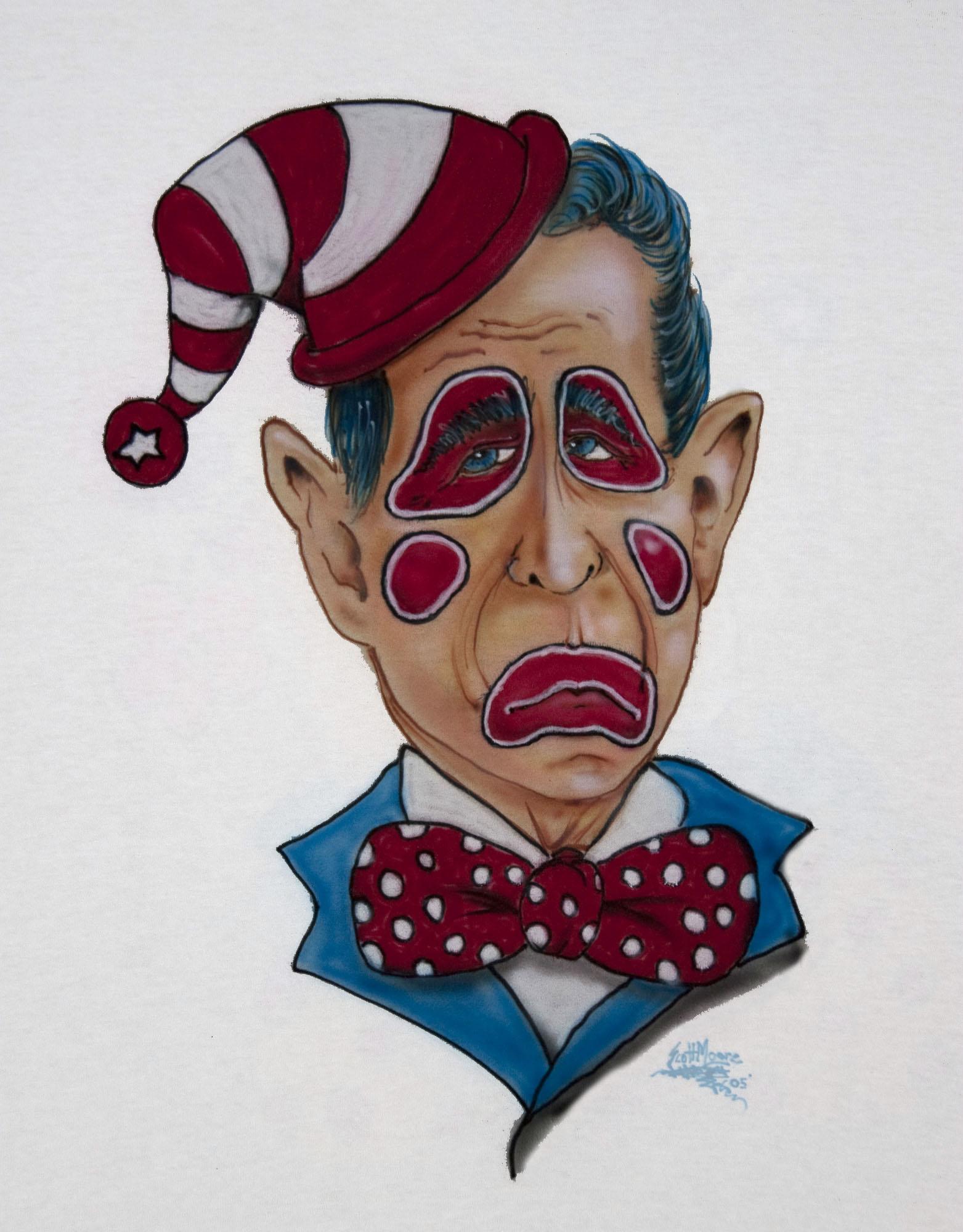 George Bush Clown