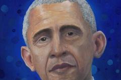 Thanks Obama! Oil on panel.