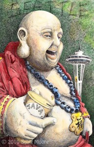 Seattle Buddha in Color