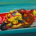 Speed, Oil paint on panel